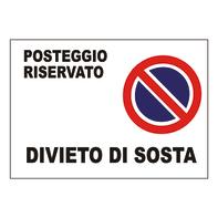 Cartello segnaletico Divieto di sosta pvc 35 x 25 cm