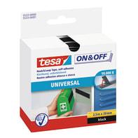 Nastro adesivo TESA On&Off 20 mm x 0.053 m nero