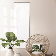Specchio a parete rettangolare Chrome argento