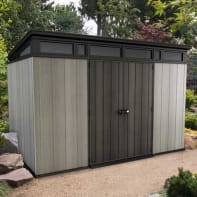 Casetta da giardino in polipropilene Artisan 11x7 KETER,  superficie interna 6.57 m² e spessore parete 20 mm