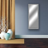 Specchio a parete rettangolare Sibilla argento 49x134 cm
