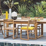 Set tavolo e sedie NATERIAL Resort in legno marrone 6 posti
