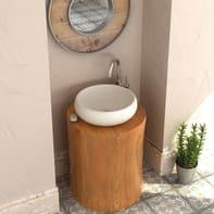 Lavabo da appoggio / per mobili rotondo RONDO 36Øx15 in resina Ø 36 x H 12 cm bianco
