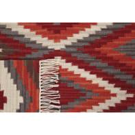Tappeto persiano Kilim zagros in lana, rosso, 160x230