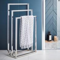 Piantana porta asciugamani Quaddro in acciaio inox cromo lucido cromo