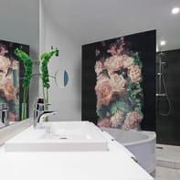 Mosaico Bouquet Rosa H 240 x L 120 cm rosa/nero