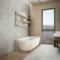 Mosaico Tessuto20 H 31.8 x L 31.8 cm beige/grigio