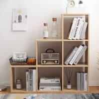Libreria 6 ripiani L 97.5 x P 29 x H 97.5 cm rovere naturale