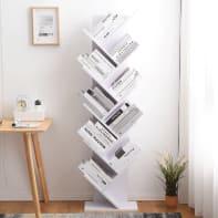 Libreria 10 ripiani L 44.5 x P 22 x H 164 cm bianco