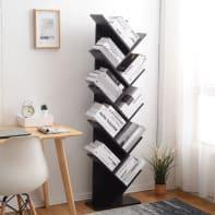 Scaffale in legno in kit 10 ripiani L 44.5 x P 22 x H 164 cm nero
