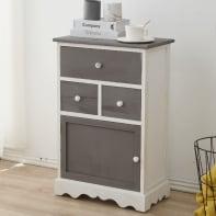 Credenza L 47 x P 30 x H 72 cm bianco, grigio