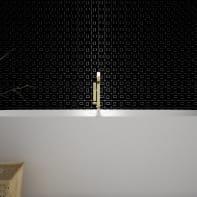 Mosaico H 36 x L 36 cm nero