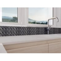 Mosaico H 30.8 x L 30.8 cm grigio/argento/grigio scuro