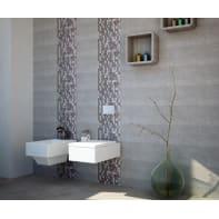 Mosaico H 30.8 x L 30.8 cm grigio/bianco