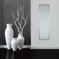 Specchio a parete rettangolare Milo argento 30x120 cm INSPIRE