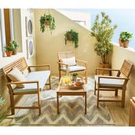 Coffee set in legno NATERIAL per 4 persone