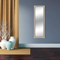 Specchio a parete rettangolare Venezia avorio 52x137 cm
