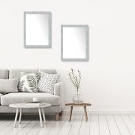 Specchio a parete rettangolare New York argento 60x80 cm