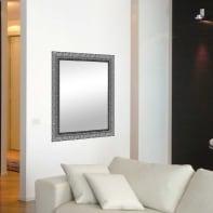 Specchio a parete rettangolare Matteo argento 98x138 cm