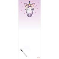 Lavagna Unicorno rosa 80x30 cm