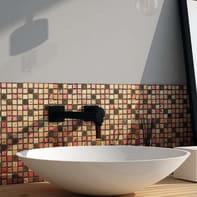 Mosaico H 30 x L 30 cm dorato/arancio/marrone