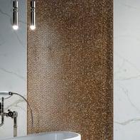 Mosaico H 30.1 x L 30.1 cm oro