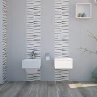 Mosaico H 30 x L 30 cm bianco/argento