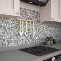Mosaico H 30 x L 30 cm argento