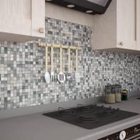 Mosaico H 30 x L 30 cm argento/grigio