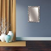 Specchio a parete rettangolare Vesuvio argento 88x118 cm