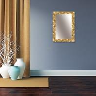 Specchio a parete rettangolare Vesuvio oro 88x118 cm