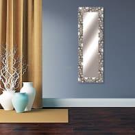 Specchio a parete rettangolare Vesuvio argento 58x158 cm
