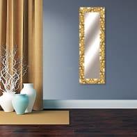 Specchio a parete rettangolare Vesuvio oro 58x158 cm