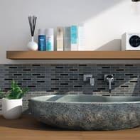 Mosaico H 30 x L 30 cm grigio/argento/marrone