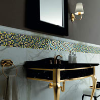 Mosaico H 31 x L 31 cm nero/giallo