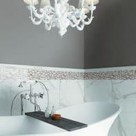 Mosaico H 30 x L 30 cm beige/grigio