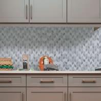 Mosaico H 31 x L 33 cm beige