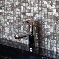 Mosaico H 29.4 x L 29.4 cm nero