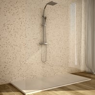 Mosaico H 30.5 x L 30.5 cm beige/bianco