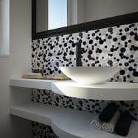 Mosaico H 30.5 x L 30.5 cm grigio/nero