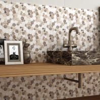 Mosaico H 30.5 x L 30.5 cm beige/marrone