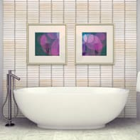 Mosaico H 29.5 x L 28 cm bianco