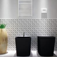Mosaico H 36 x L 36 cm bianco