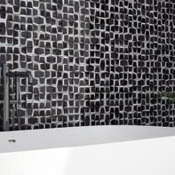 Mosaico H 30 x L 30 cm argento/platino