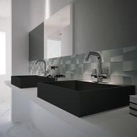 Mosaico H 29.5 x L 29.5 cm argento