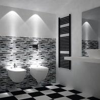 Mosaico H 30 x L 30 cm argento/bianco