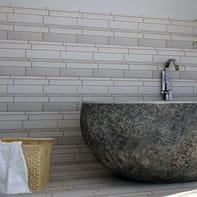 Mosaico H 30 x L 29.5 cm grigio