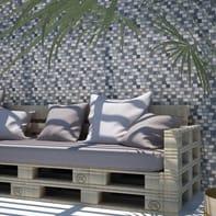 Mosaico H 30 x L 30 cm grigio/bianco