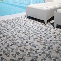 Mosaico H 30 x L 30 cm nero/bianco