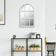 Specchio a parete rettangolare Cindy bianco 50x80 cm